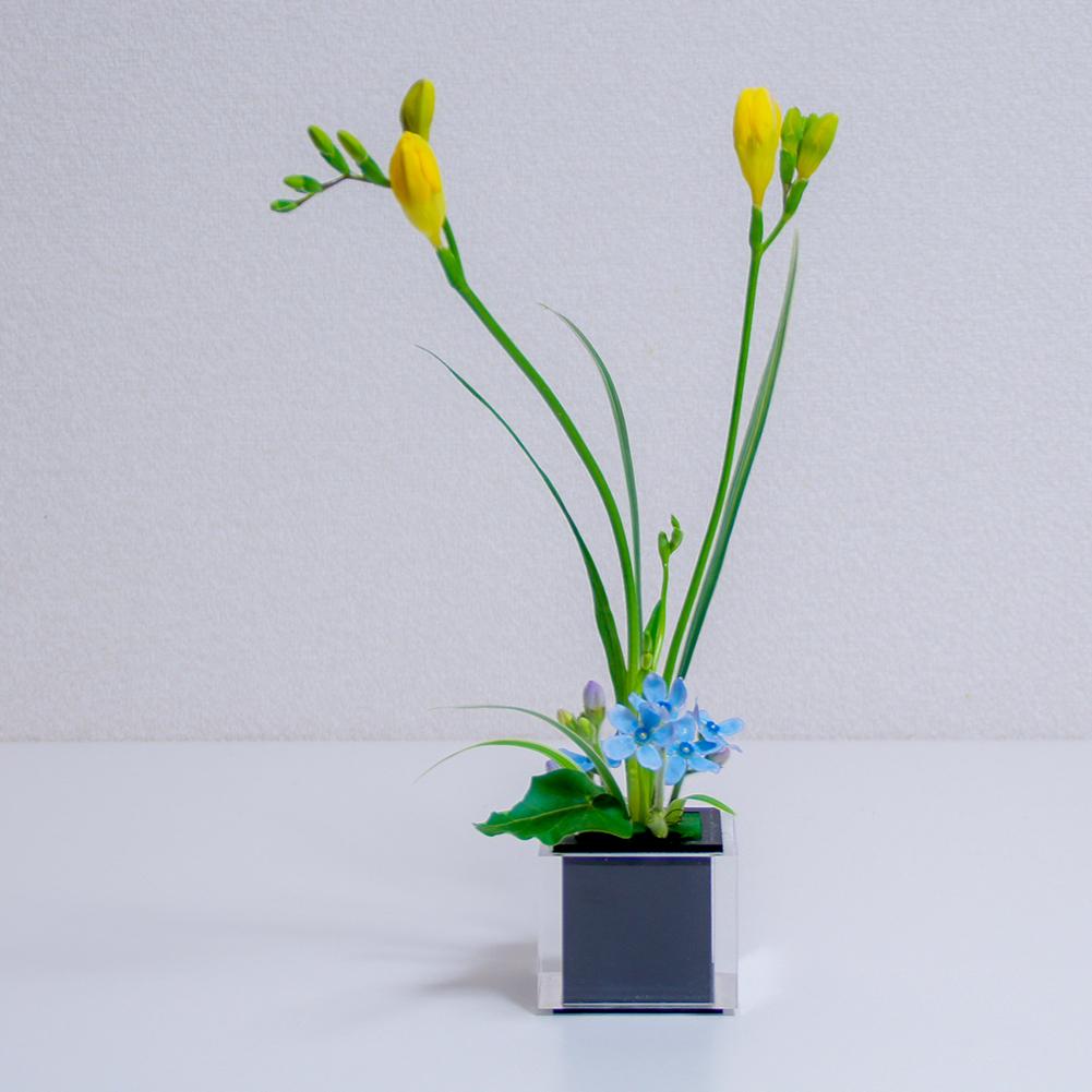 小さい器に生けた自由花